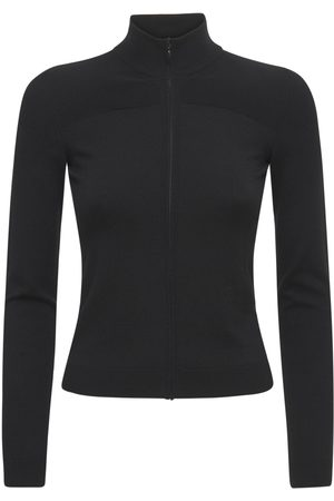 VALENTINO Logo Wool Blend Knit Sweatshirt