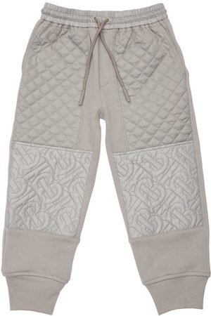 Burberry Logo Quilted Cotton Sweatpants