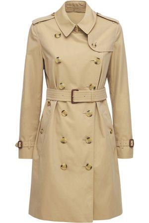 BURBERRY Mid-length Kensington Canvas Trench Coat