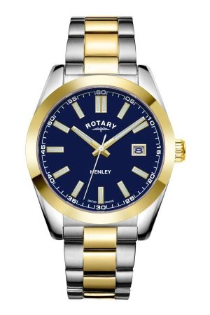 Rotary Watches Men Watches - Rotary Mens Henley Two Tone Stainless Steel Watch