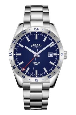 Rotary Watches Rotary Gents Henley Blue Dial Stainless Steel Sports Watch