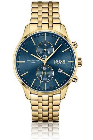 HUGO BOSS Yellow-gold-effect chronograph watch with link bracelet