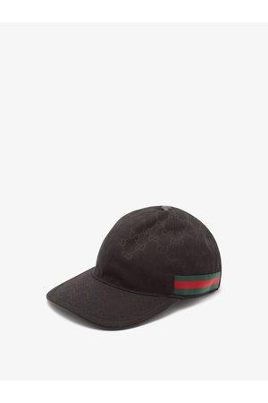Gucci Men Hats - Web-stripe Gg Logo-jacquard Baseball Cap - Mens