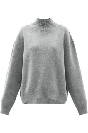 Raey Responsible-wool Displaced-sleeve V-neck Sweater - Womens