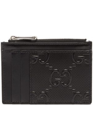 Gucci GG Tennis Zip Leather Cardholder - Mens