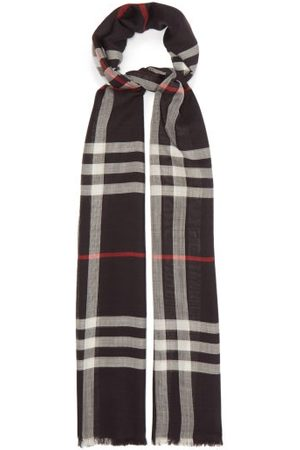 Burberry Vintage-check Voile Scarf - Mens - Navy Multi