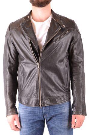 D.A. Daniele Alessandrini Men Leather Jackets - Leather Jacket in
