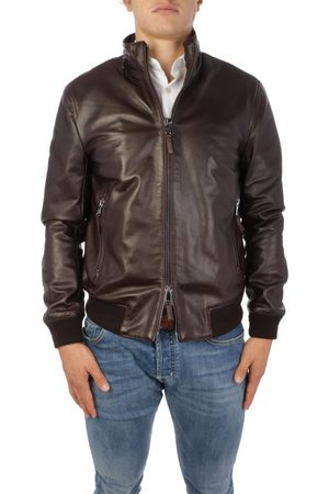 THE JACK LEATHERS MEN'S STODEER06 LEATHER OUTERWEAR JACKET