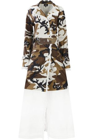 THALÈ BLANC Chicago Coat Long in Camo and White