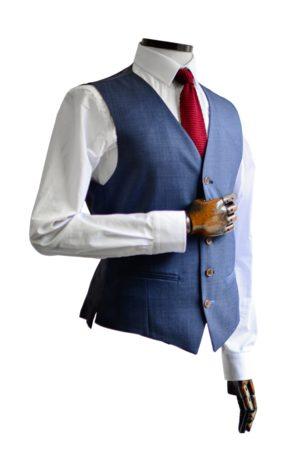 Scott by the Label Plain Navy Pin-Dot Suit Waistcoat