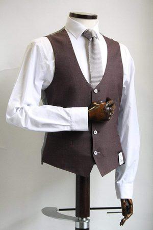 Remus Lazio Burgundy & Grey Waistcoat