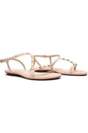 Schutz Sweet Rose Studded Sandals