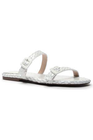 Schutz Women Flat Shoes - Snake Double Strap Flats