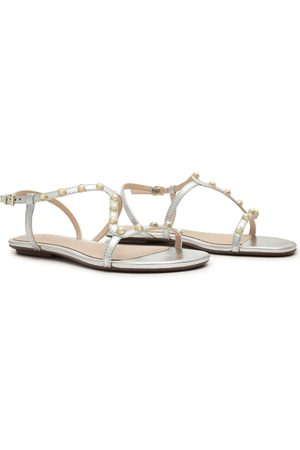 Schutz Women Sandals - Metallic Studded Sandals