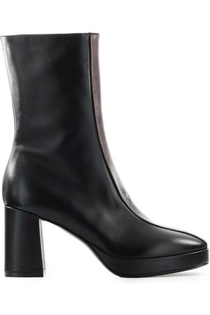 Elena Iachi Women Ankle Boots - WOMEN'S A47202BLACK LEATHER ANKLE BOOTS