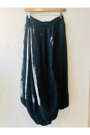 European Culture Cotton Mix Skirt Black
