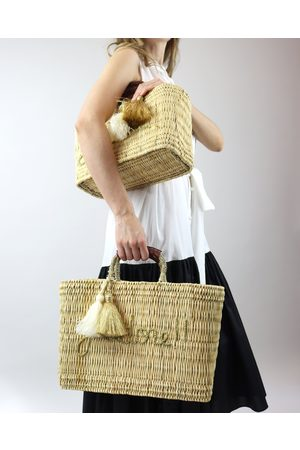 J'Adore Woven Raffia Beach Bag