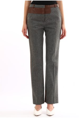 Céline Gray trousers leather inserts