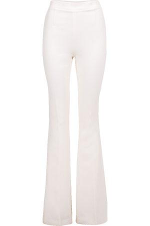 Safiyaa Women Wide Leg Trousers - Ivory Halluana Flare Pant