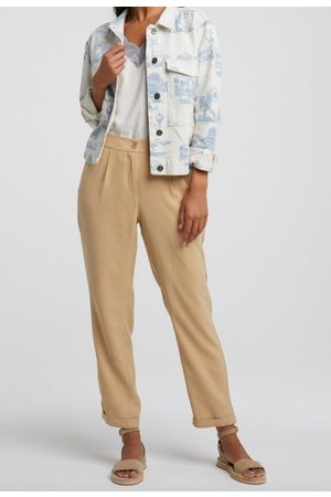 YAYA Relaxed fit trousers croissant