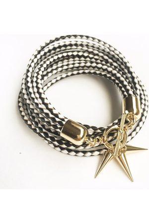 KGW Studio Two-in-one monochrome leather choker-double bracelet