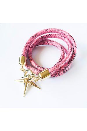 KGW Studio Two-in-one snake-effect leather choker-double bracelet