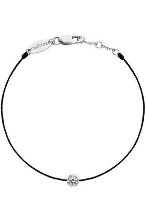 Redline Men Bracelets - Mens Pure Diamond Black Cord Bracelet