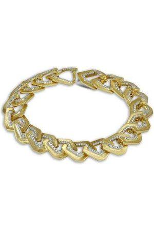 Kavant & Sharart Origami Brushed Link NO.5 Diamond Bracelet