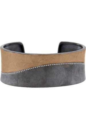 Todd Reed Diamond Line Silver Cuff Bracelet