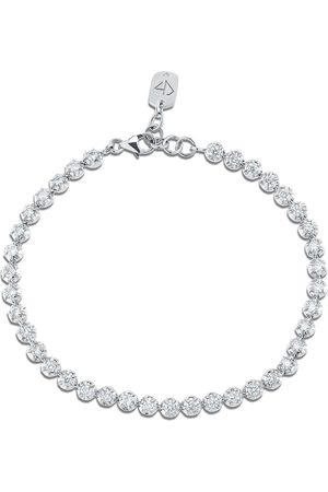 CARBON & HYDE Rosette Tennis Bracelet - White Gold