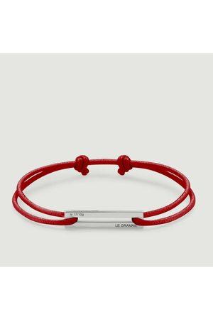 Le Gramme 25/10g Cord Bracelet Lisse poli coton rouge