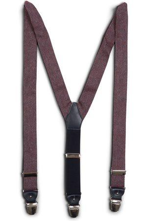 40 Colori Men Braces - Silk & Cotton Braces - Burgundy