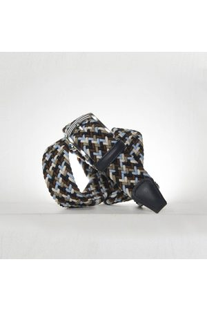 Anderson's Andersons Woven Textile Belt - Navy/Sky/Taupe/Cream 3.5cm
