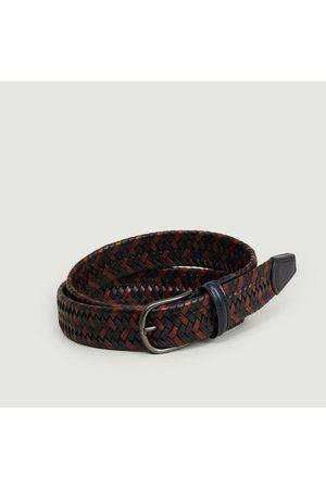 Anderson's Matt black braided belt Multicolor