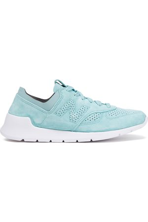 New Balance Woman Perforated Suede Sneakers Turquoise Size 10