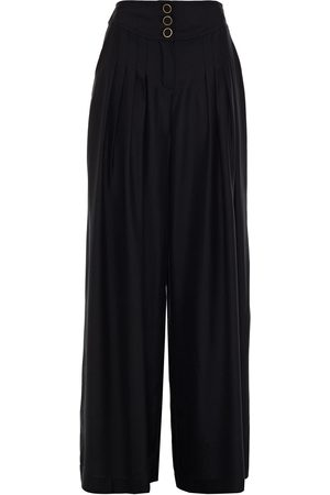 ZIMMERMANN Woman Pleated Silk-cady Wide-leg Pants Size 0