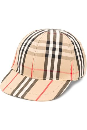 Burberry Plaid print baseball cap - Neutrals