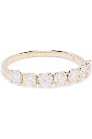 Dinny Hall 14kt yellow Primrose diamond half eternity ring