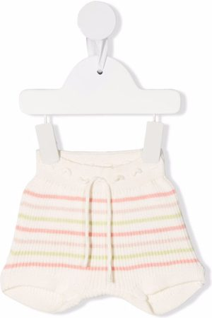 KNOT Briefs - Striped ribbed-knit bloomers - Neutrals
