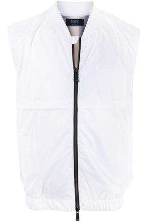 Kiton Men Body Warmers - Striped logo patch gilet