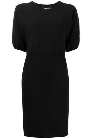 Paule Ka Pufff-sleeve knitted dress