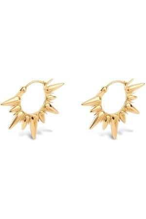 Dinny Hall 22kt yellow Sunbeam Fanny Half Sun hoop earrings