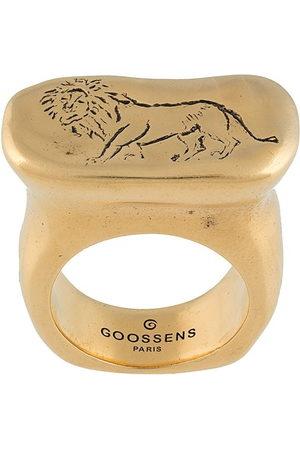 Goossens Harumi Lion signet ring - YG