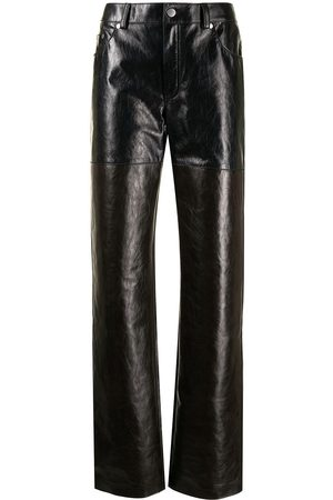 Peter Do Leather Combo pants