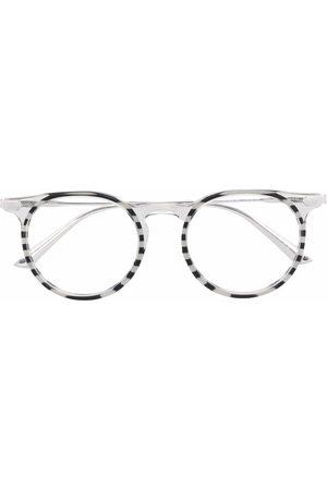 Calvin Klein Stripe-print round-frame glasses