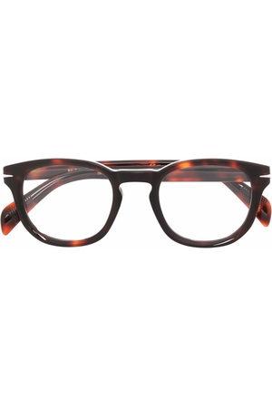 DB EYEWEAR BY DAVID BECKHAM Round tortoiseshell glasses