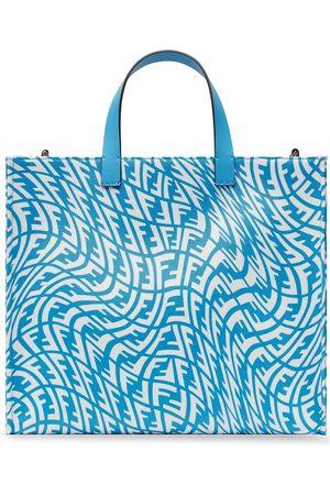 Fendi Women Handbags - Small FF Vertigo print glazed canvas tote bag