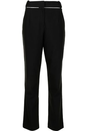 CHRISTOPHER ESBER High-waisted belted trousers