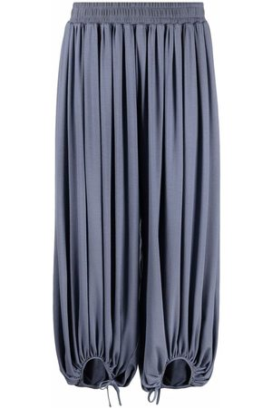 Styland Pleated drawstring trousers