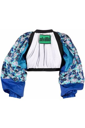 Colville Floral-print open-front cropped jacket